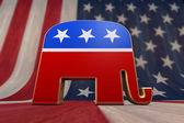 Photo Republican Party Symbol on an American Flag Background