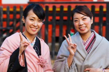 Japanese Ladies with Kimono