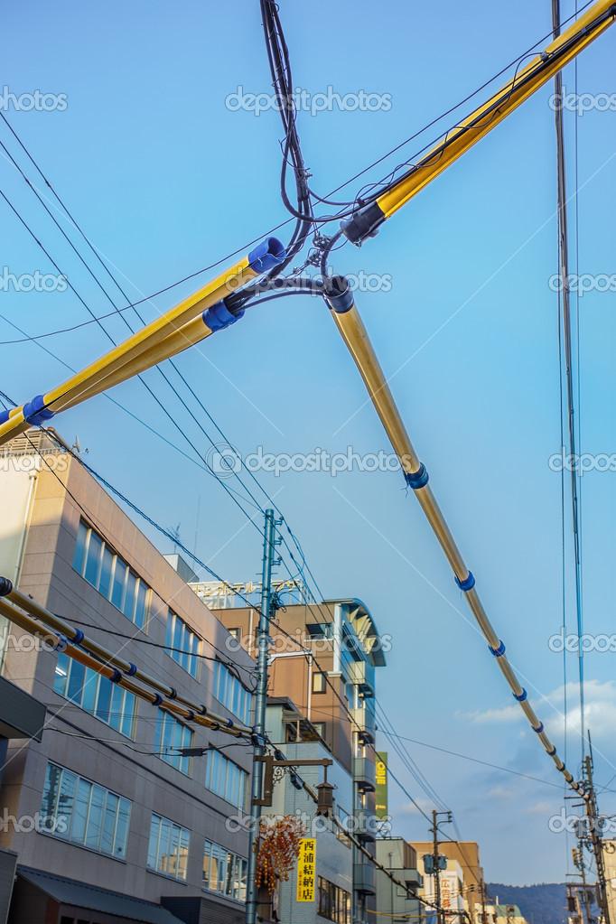 elektrische Verdrahtung in nara — Redaktionelles Stockfoto ...