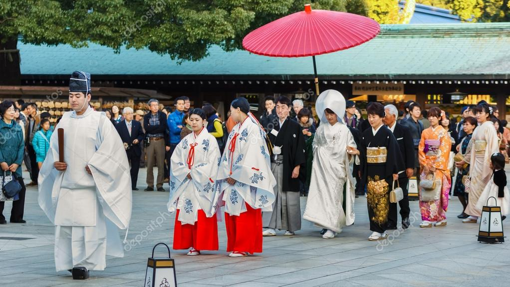 Japanese Traditional Wedding Ceremony At Meiji Jingu Shrine In Tokyo Stock Editorial Photo