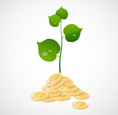 Vector coins and plant