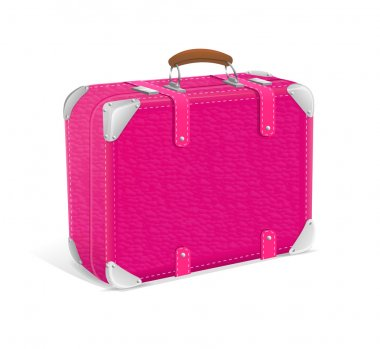 illustration of pink trawel suitcase