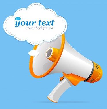 Vector megaphone speech templates for text