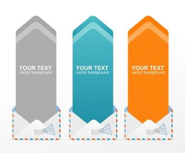 Vector colorful text box arrow
