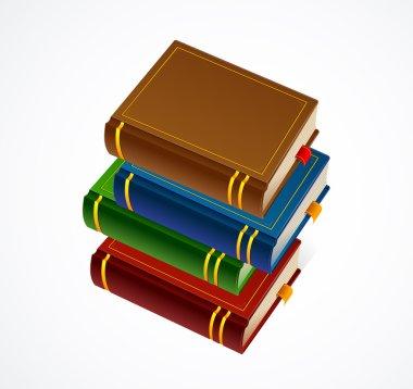Books stack icon. Vector Illustration