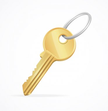 Vector Golden Key