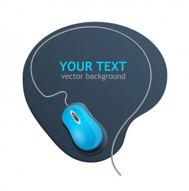 Vector computer mouse text