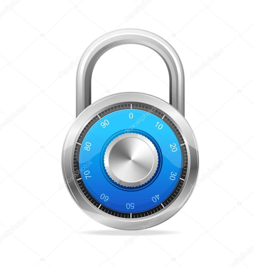 Lock, Security Concept. Vector padlock