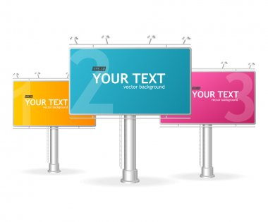 Vector billboards screen template for text