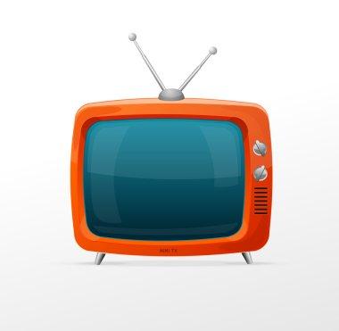 Tv retro cartoon style