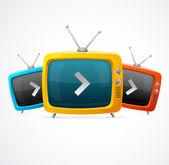 Fényképek vektor televízió
