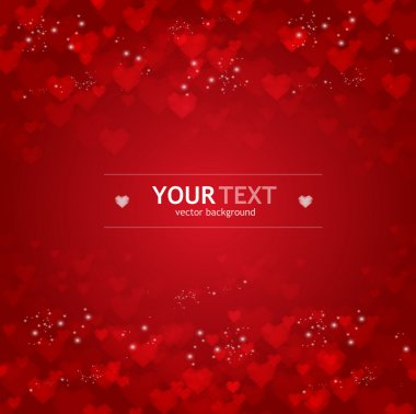 Vector background from red hearts clip art vector