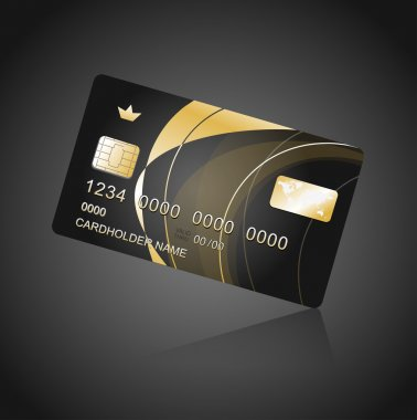 VIP Card black and gold