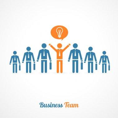 Vector human symbol teamwork. Idea concept