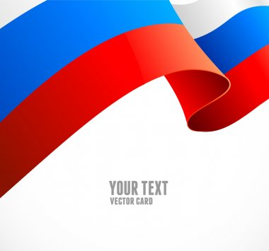 Russian flag border vector illustration on white