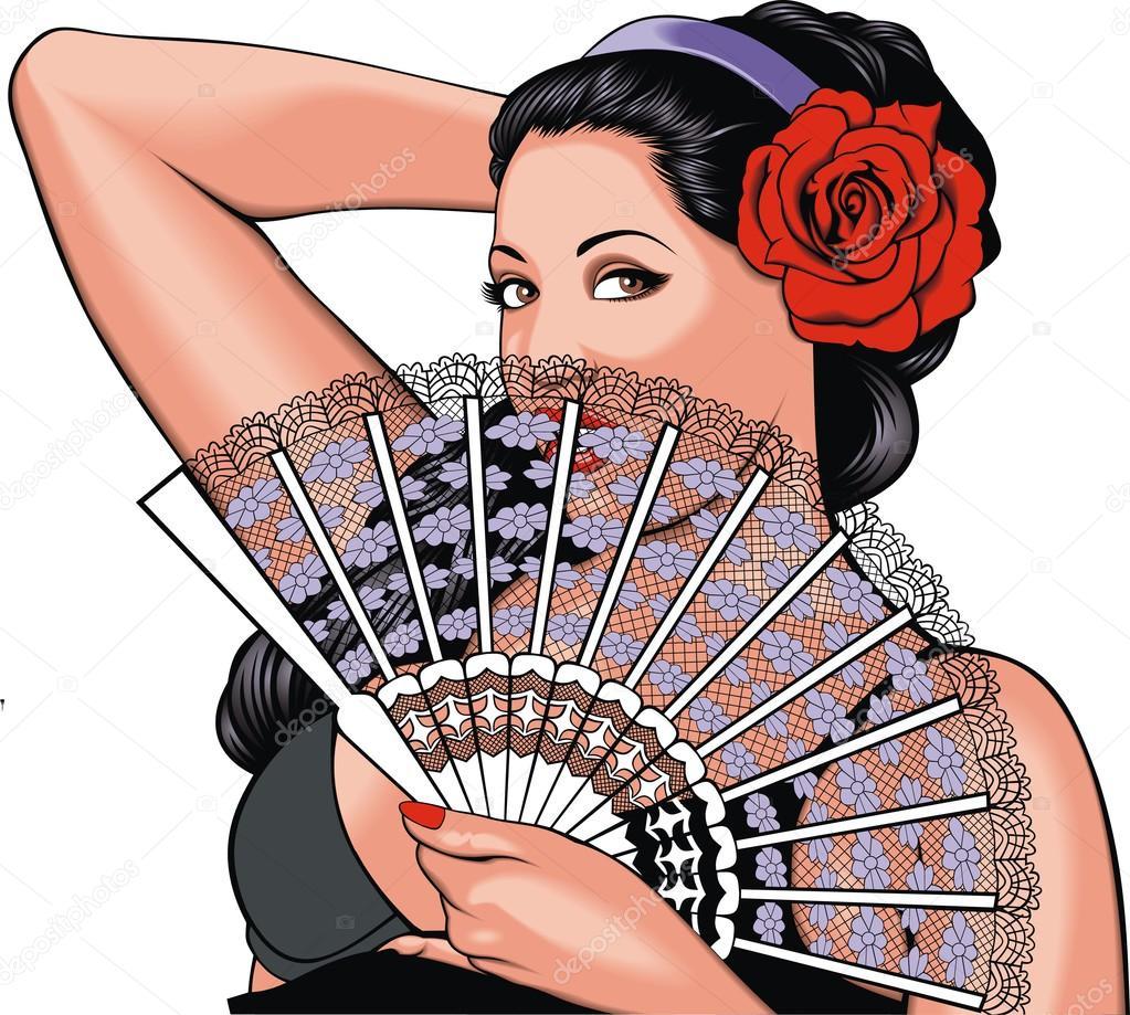 nice romantic woman
