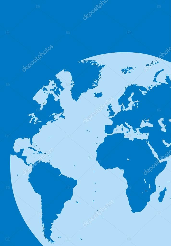 World Map In The Blue Color Stock Vector Pepeemilio - World map in blue color