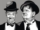 Fotografie Lauer und Hardy - meine ursprüngliche Karikatur