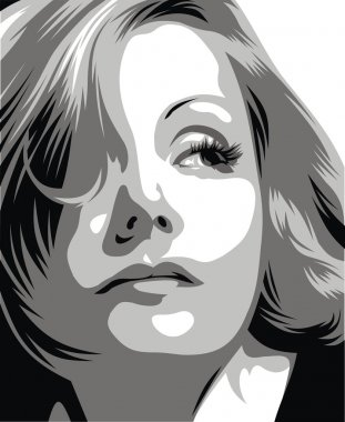 Greta Garbo - my original caricature