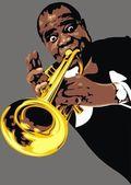 Luis Armstrong - my original caricature
