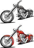 Fotografia moto rossa isolata su sfondo bianco