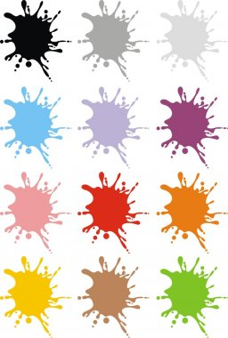 color ink shapes in different colors