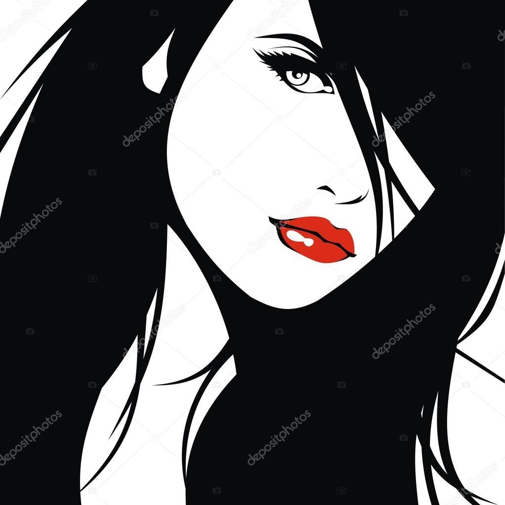 woman head and their hair (hair stylist vector)