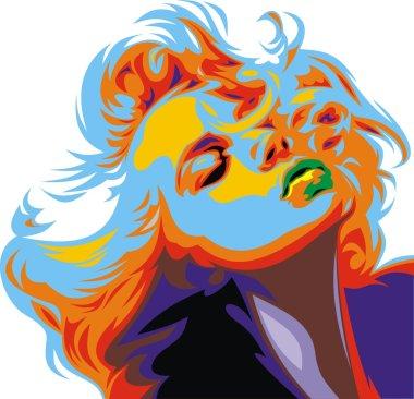 blonde girl look like Marilyn Monroe