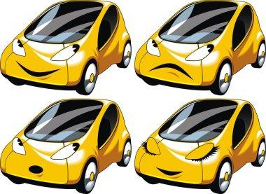 yellow small car design