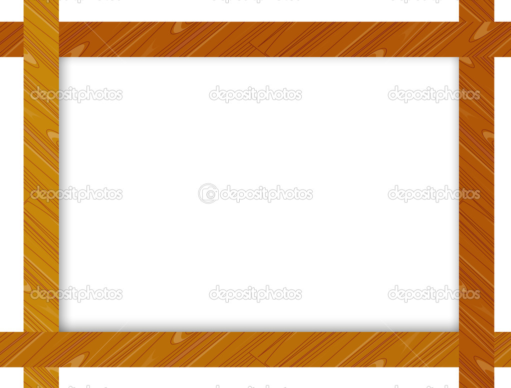 3D Picture Frame Design Vector For A4 Image Or Text