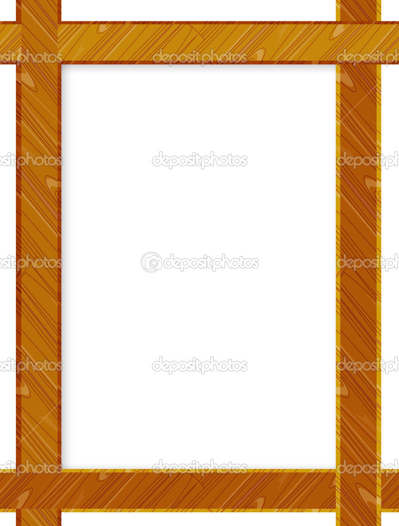 3D picture frame design vector for A4 image or text — Stock Vector ...