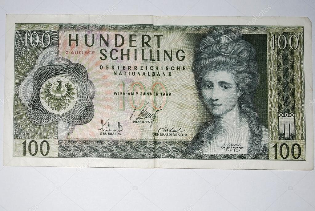 古い 100 オーストリア シリング...