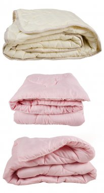 Pink and beige blankets
