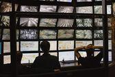 bezpečnostních stráží sledoval video monitorování