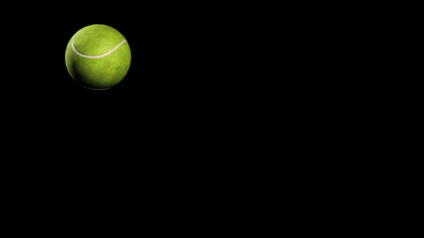 Tennis Ball Jumping On Black Background Loop Stock Video