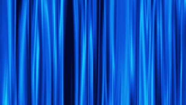 blauwe gordijnen opent, witte achtergrond — Stockvideo © Tiplyashina ...