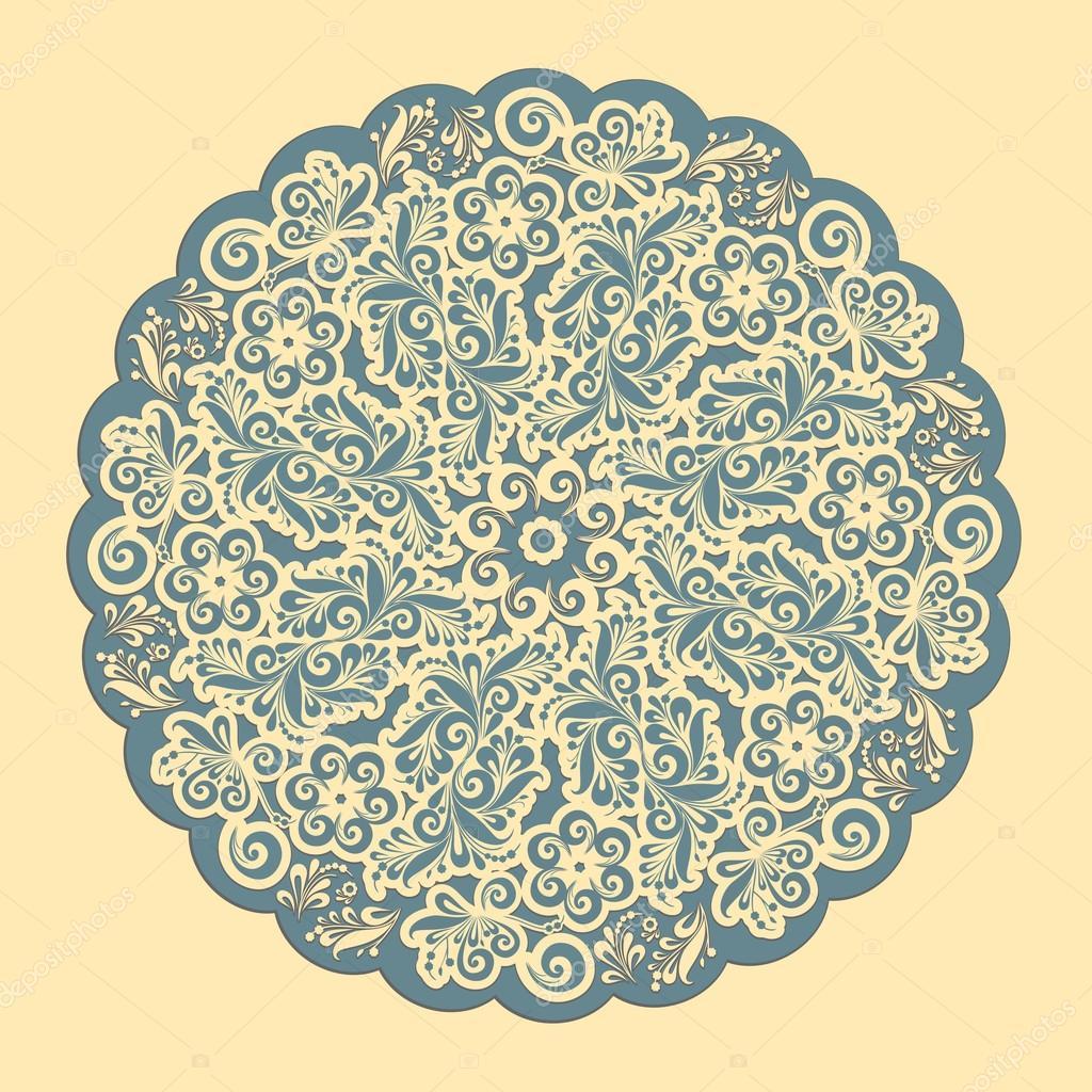 marco ornamental del cordón redondo — Archivo Imágenes Vectoriales ...