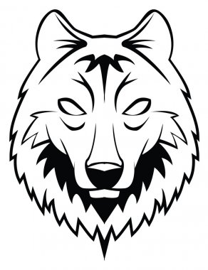 Vector illustration of wolf head
