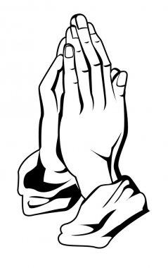 Vector illustration of prayer hand