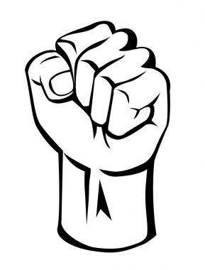 Vector illustration of strong hand