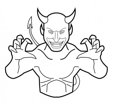 Vector illustration of devil