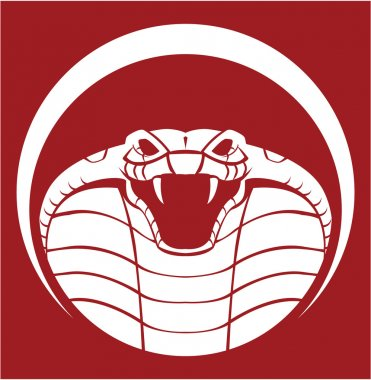 Illustration of cobra emblem