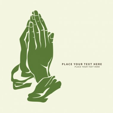 Vector illustration of praying hand stock vector