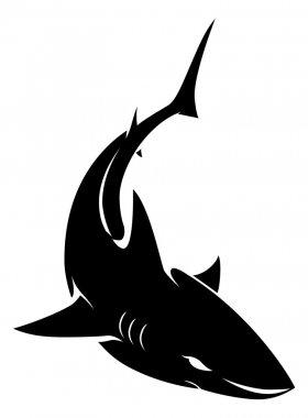 Illustration of shark sign