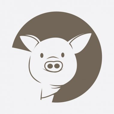 Illustration of pig symbol