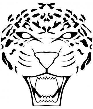 Illustration of leopard face