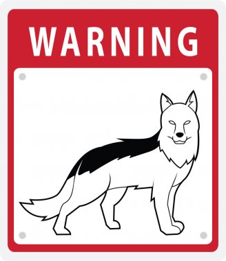 Illustration of Shepherd Dog Warning Sign