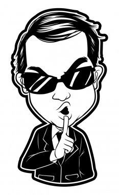 Illustration of secret agent