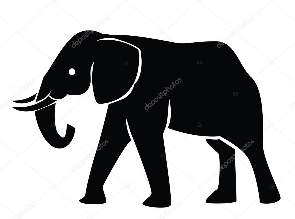 illustration of elephant silhouette stock vector indomercy2012 rh depositphotos com elephant silhouette vector free download baby elephant silhouette vector