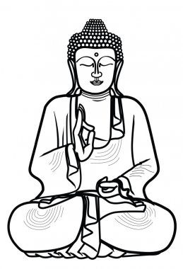 Illustration of buddha statue